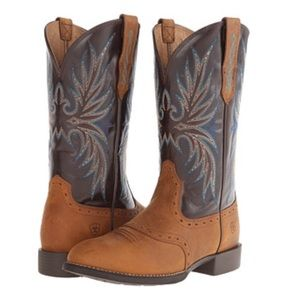 Ariat Heritage Stockman Leather Western Boots